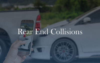Rear-End Collision – The Law and What I Need to Know